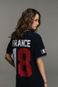 KAPORAL CAMPAGNE mixte SS 19 T shirt #tousfoot bleu marine france coupe du monde 2018 en vente chez blackstore