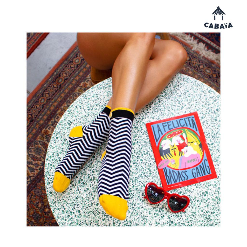 L'accessoire indispensable d'après Cabaïa ? Les chaussettes prêtes à être shoppées dans les magasins BLACKSTORE. Prêt, partez !