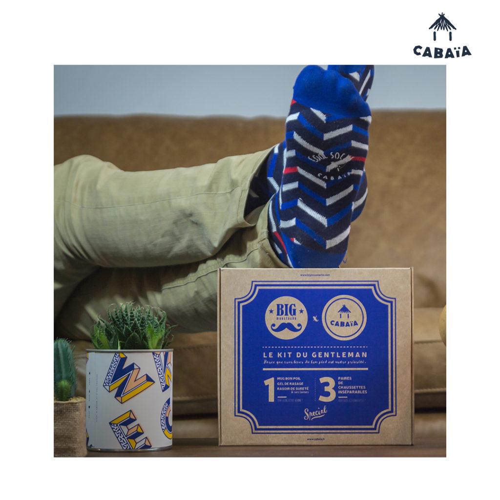 Le kit du Gentleman Cabaïa x Big Moustache est une box dédiée aux hommes : kit de rasage & chaussettes. En édition limitée chez BLACKSTORE.