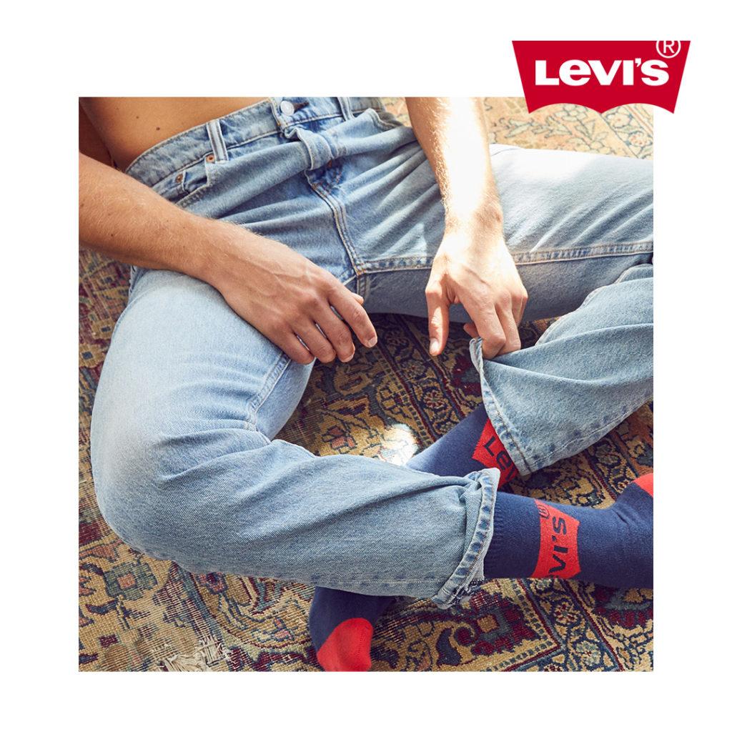 Pour Noël, découvrez l'une des idées cadeaux Levi's disponibles chez BLACKSTORE : des chaussettes en coton confortables à porter au quotidien.